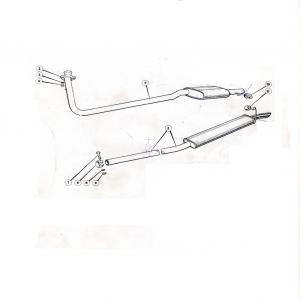 Scimitar SE6/6a Exhaust System N1