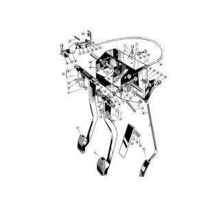 Scimitar SE6/6a Clutch and Pedals H4