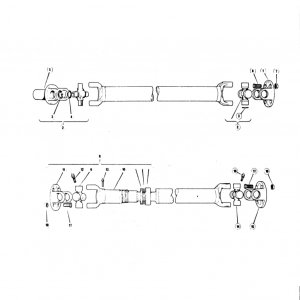 Scimitar SE5/5a Propshaft J1