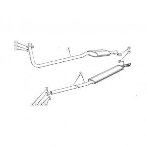 Scimitar SE6b/8 Exhaust System N1
