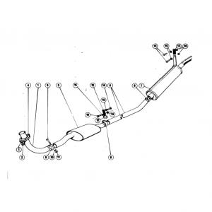 Scimitar SE5/5a Exhaust System N1