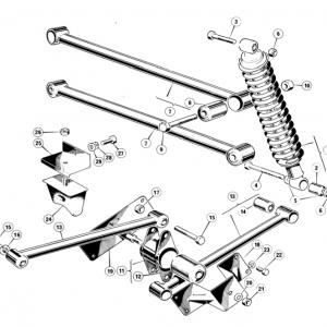 Scimitar SE6b/8 Rear Suspension C1