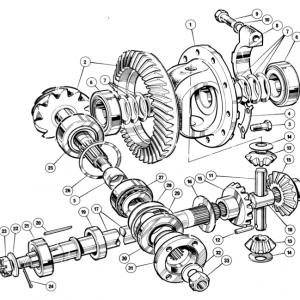 Scimitar SE6/6a Rear Axle K2/1