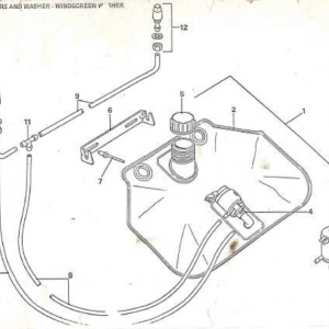 SS1/SST/Sabre Windscreen Washer U1