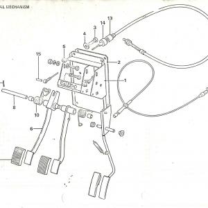 SS1/SST/Sabre Clutch & Pedals H1